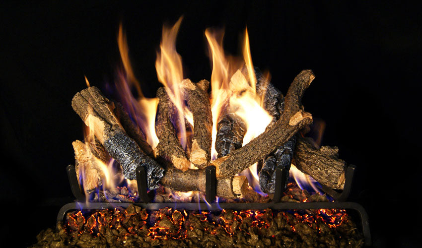 Real Fyre Charred Oak Stack Vented Gas Logs