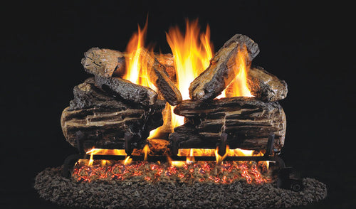Real Fyre Charred Split Vented Gas Logs