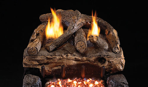 Real Fyre Evening Fyre Split Vent Free Gas Logs