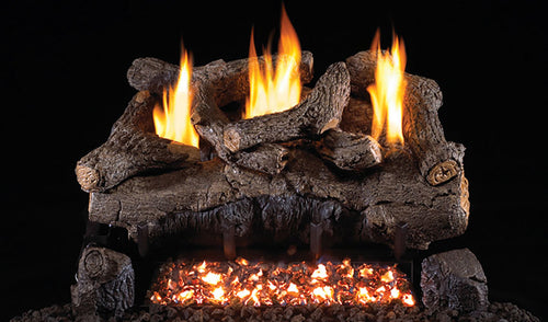 Real Fyre Evening Fyre Vent Free Gas Logs