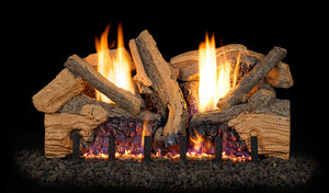 Real Fyre Foothill Split Oak Vent Free Gas Logs - FTSO