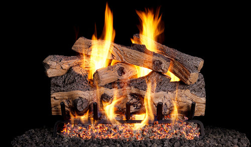 Real Fyre Gnarled Split Oak Vented Gas Logs