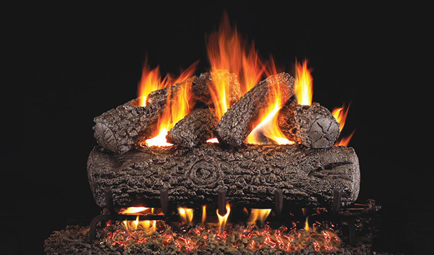 Real Fyre Post Oak Vented Gas Logs