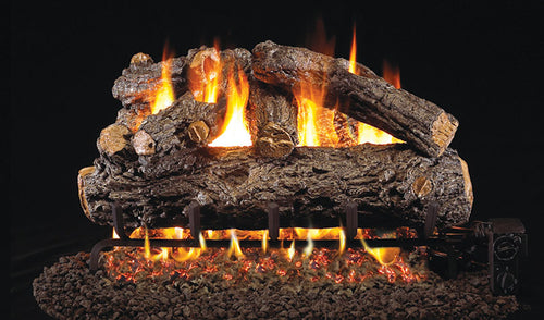 Real Fyre Rustic Oak Designer Vented Gas Logs