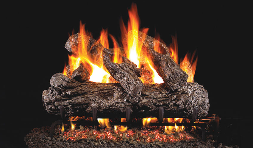 Real Fyre Rustic Oak Vented Gas Logs