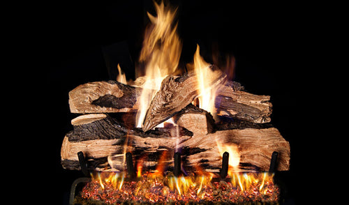 Real Fyre Split Oak Designer Plus Vented Gas Logs