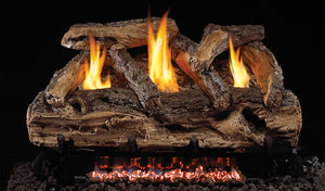Real Fyre Split Oak Vent Free Gas Logs