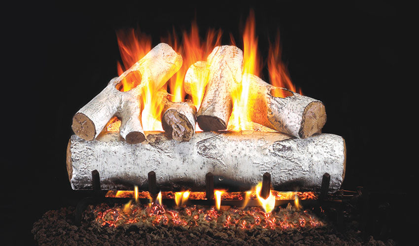 Real Fyre White Birch Vented Gas Logs
