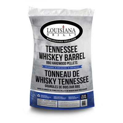 Louisiana 100% All Natural Wood Pellets - Tennessee Whiskey Barrel - 20 lb Bag