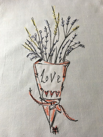 Mother's Love Bouquet - Machine Embroidery Designs