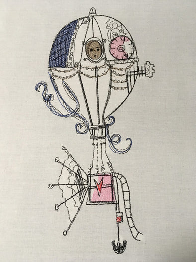 Steampunk Hot Air Balloon – Embroidery Designs