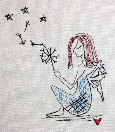 Dandelion Fairy Girl Embroidery Design