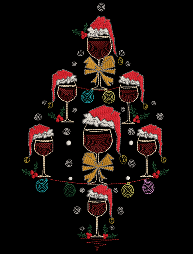 Wine Christmas Tree