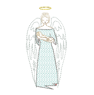 Angel with Baby in Arms