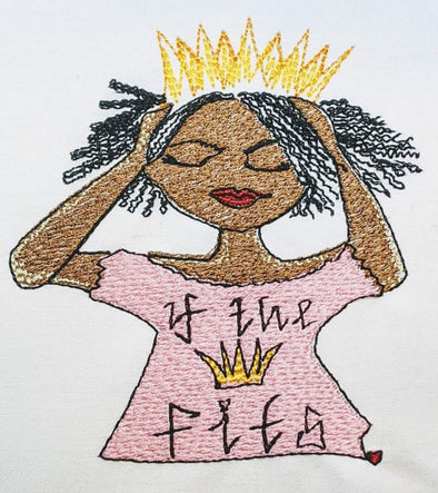 If the Crown Fits  Girl Urban Embroidery Design