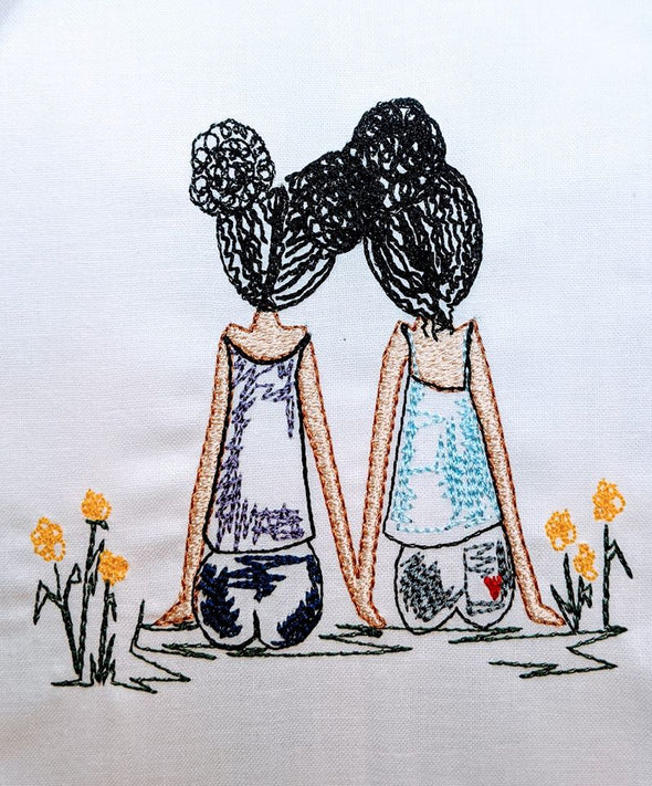 Young BFF Urban Embroidery Design