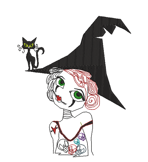 Witch Edith - Embroidery Design