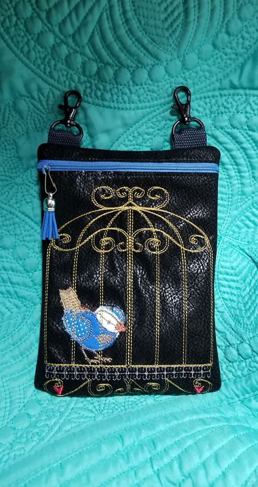 ITH Raw Edge Birdcage Bag