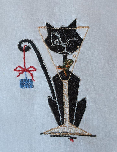 Urban Machine Embroidery- Cheer's Cat & Fish