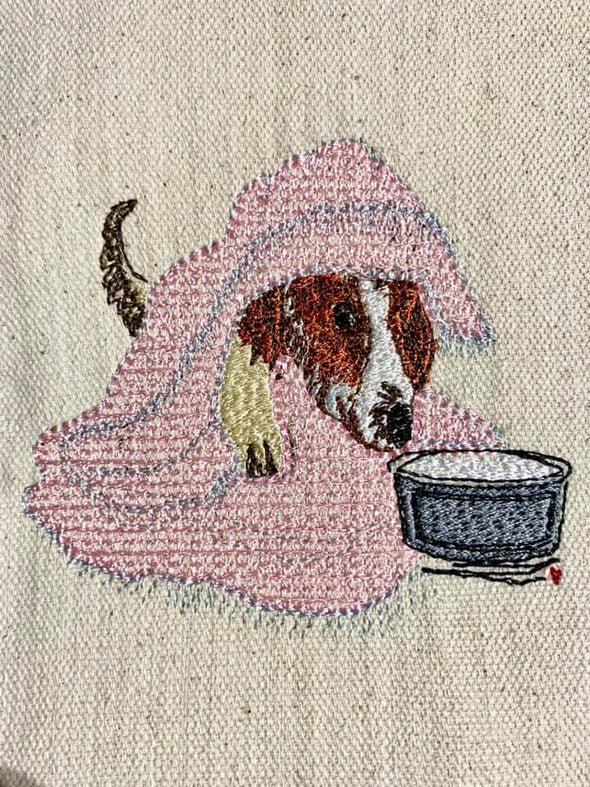 peekaboo Dog - Embroidery Design