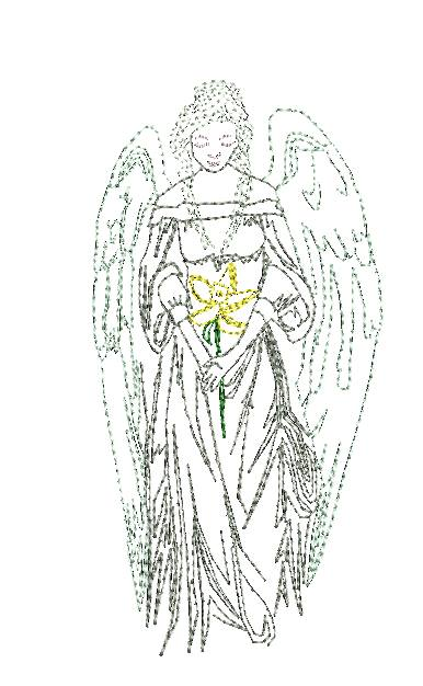 Angel Mother + Dove - Embroidery Design