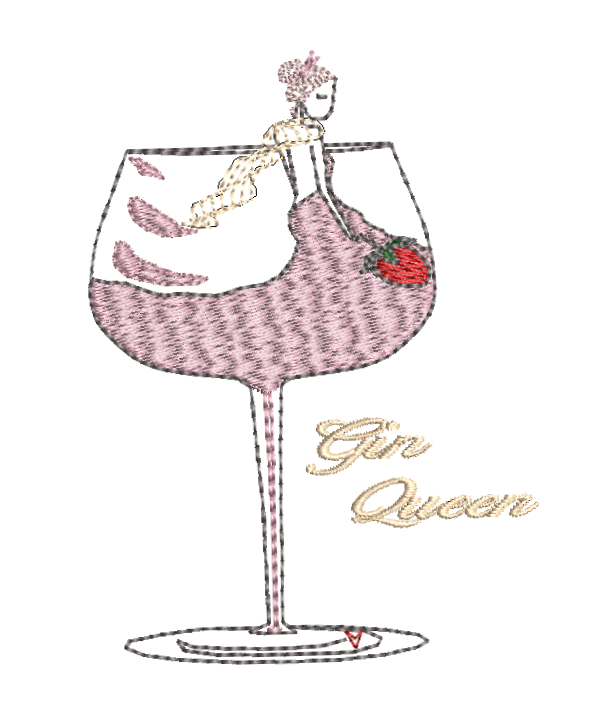 URBAN Embroidery Gin Queen
