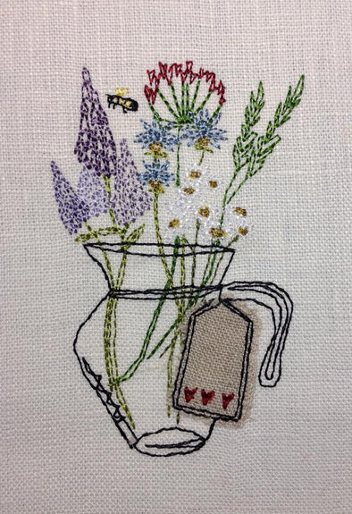 Hug in a Jug - Raw Edge Applique