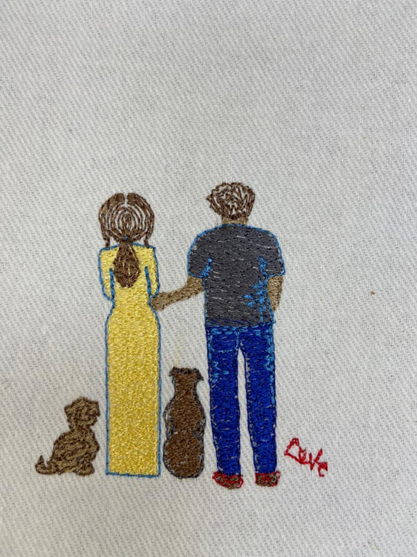 Mix and Match Man Machine embroidery designs