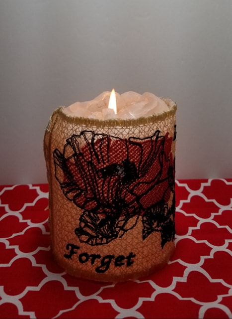 Candle wrap Lest we forget