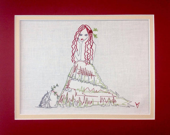 Fairy with Hedgehog - Embroidery Design