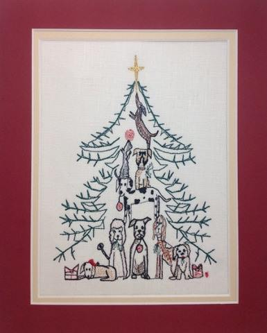 Doggy Christmas Tree - Embroidery Design