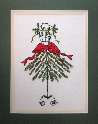 Christmas Tree Dress - Embroidery Design