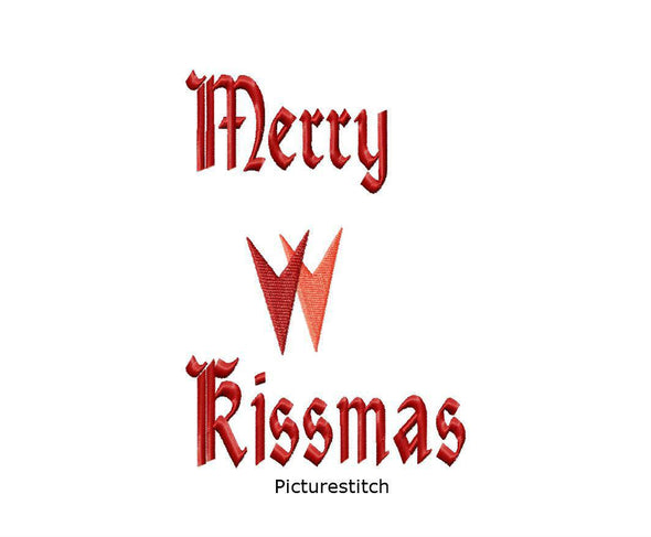 Merry Kissmas - Embroidery Design
