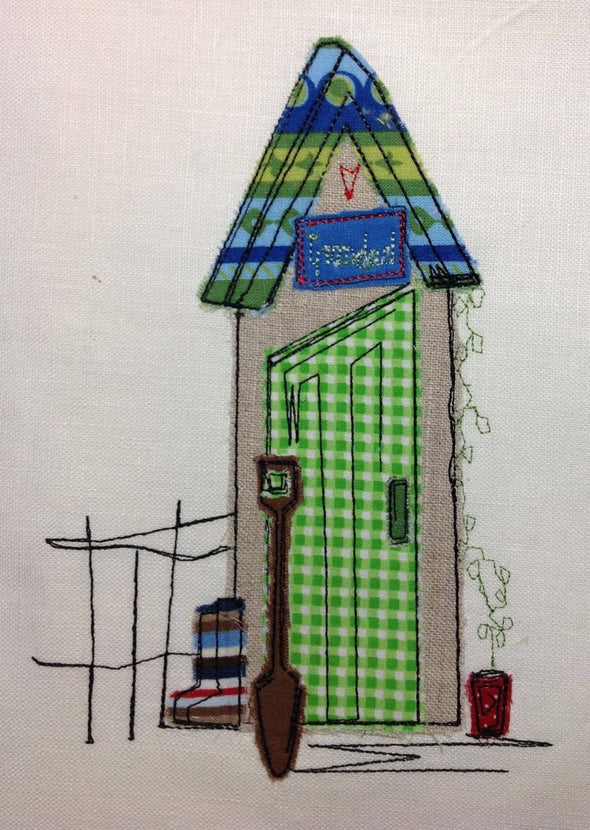 Grandad's Shed - Raw Edge Applique Embroidery Design