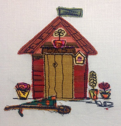 Dad's Shed - Raw Edge Applique Embroidery Design