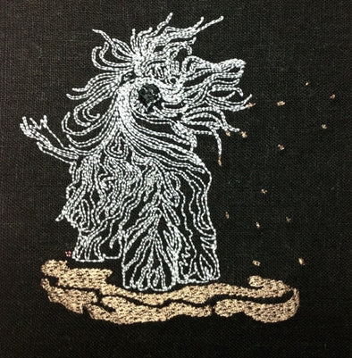 Muddy Dog - Embroidery Design