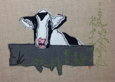 Nosey Cow - Raw Edge Applique