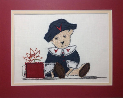 Vintage Ted - Raw Edge Applique Embroidery Design
