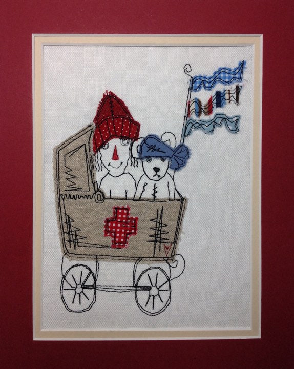 Vintage Toy Hospital - Raw Edge Applique Embroidery Design