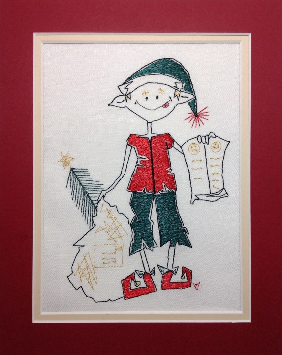 Eric the Christmas Elf - Embroidery Design