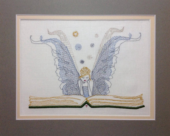 Fairy Book Design - Reading Pillow Embroidery Design