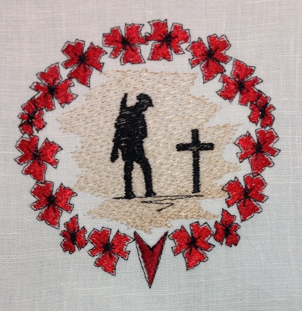We Will Remember Soldier's Grave - Embroidery Design