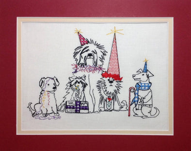 Doggy Christmas Party - Embroidery Design