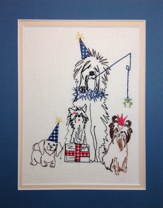 Doggy Christmas Party 2 - Embroidery Design