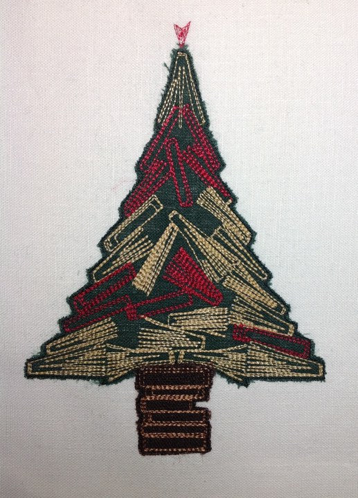 Christmas Book Tree - Raw Edge Applique