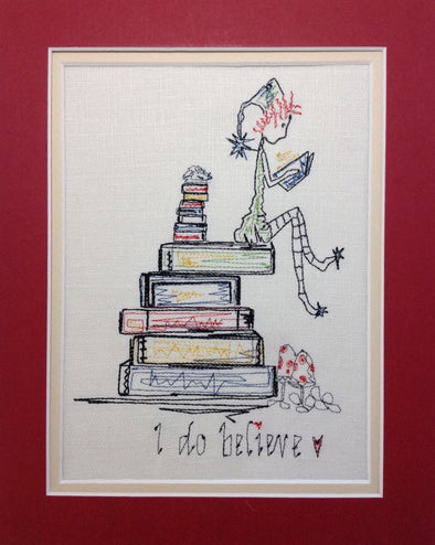 Pixie Boy - I Do Believe - Reading Book Pillow Design