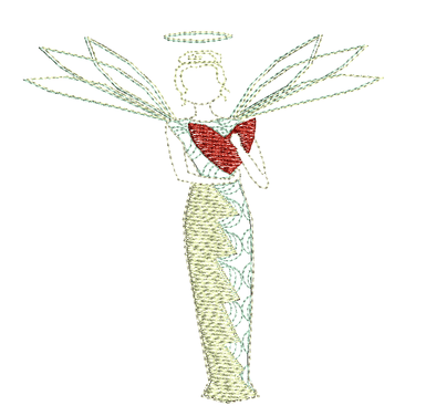 Guardian Angel - Embroidery Design