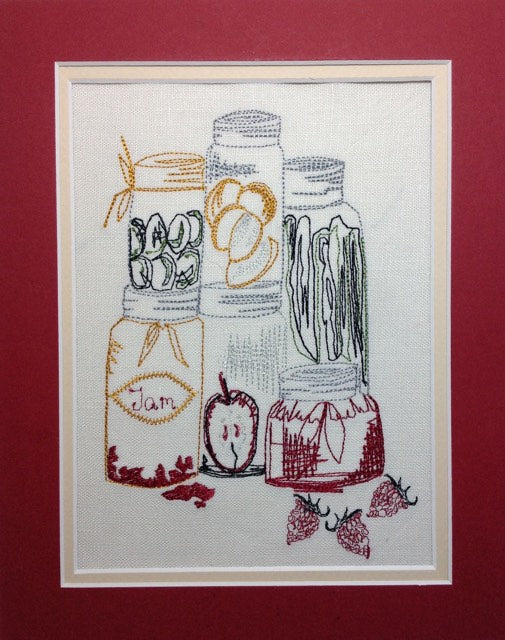 Jar of Condiments - Embroidery Design