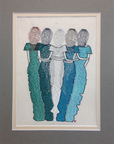 5 Ladies, Sisters, Friends - Angel Design
