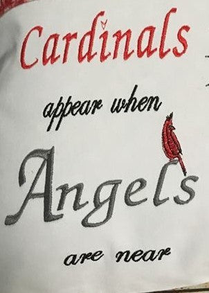 Angel Mother - WORDS ONLY - Reading Book Pillow Embroidery Design
